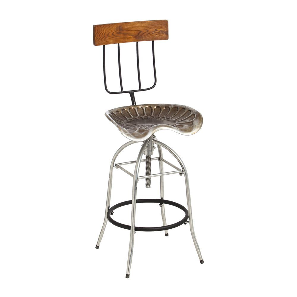 Evergreen Enterprises 4S5002 Wood And Metal Pitch Fork And Tractor Swivel  Stool | The Mine