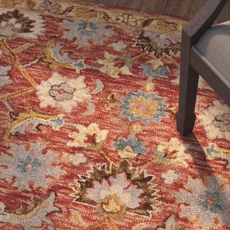 Watertown Floral Hand Hooked Wool Red Area Rug In 2021 Rugs Area Rugs Wool Area Rugs