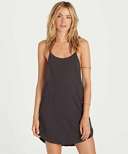 675a207707 Billabong Women's Beachy Ways Tank Dress Cover up, Off Black, M ...