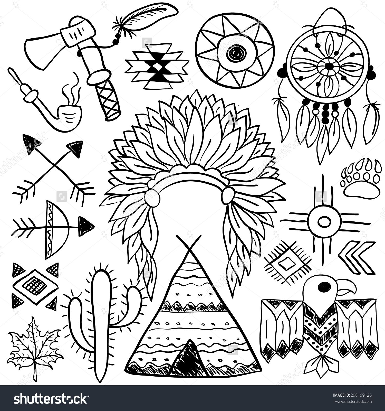 Hand drawn doodle vector elements set (vol. 5 of 9