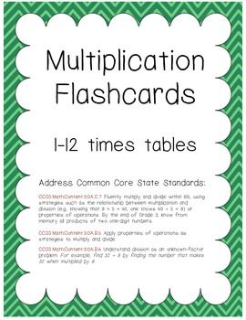 image about Printable Multiplication Flash Cards Double Sided named Multiplication Flashcards 1-12 tables (8 for each web site