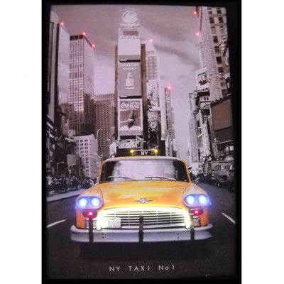 Neonetics Cars & Motorcycles NY Taxi Neon LED Poster
