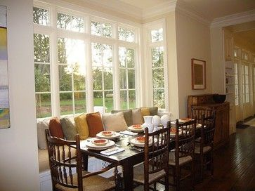 bay window in diningroom traditional dining room jpg dining room rh pinterest com bay window treatments in dining room decorating ideas for bay windows in dining room