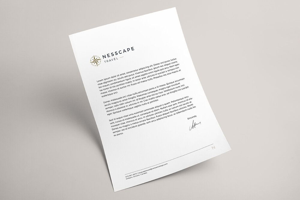 #melissadawngraphics #nesscapetravel #logo #submark #brand #branding #brandstylist #design #graphicdesign #graphicdesigner #femininebrand #femininebranding #modernlogo #modern #modernbrand #print #printcollateral #printdesign #variationlogo #ottawabranding #travellogo #traveladvisorlogo #stationery #stationerydesign #letterhead #letterheaddesign #compass #compasslogo