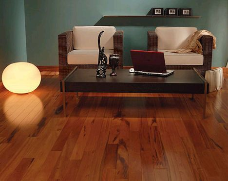 High End Laminate Flooring get the look and feel of exotic wood or high-end stone at a