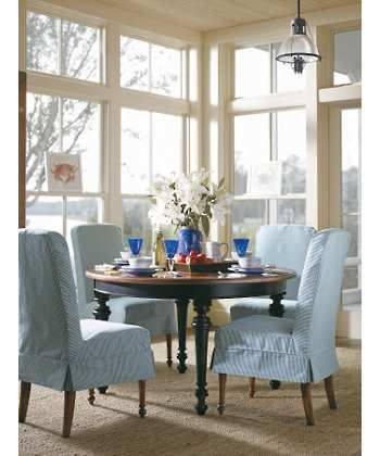 Coastal Living Slipcover Dining Room Chairsi Absolutely Love The Captivating Comfortable Dining Room Sets Inspiration