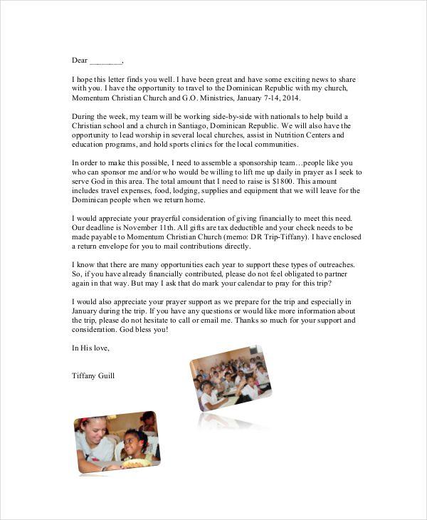 10 Sponsorship Letter Samples Word Excel PDF Templates