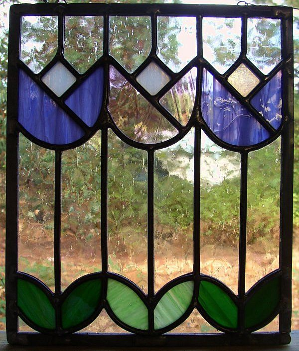 stained glass tulip gate
