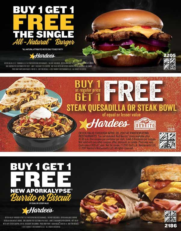image regarding Hardee's Printable Coupons referred to as Hardees Discount codes - 0425