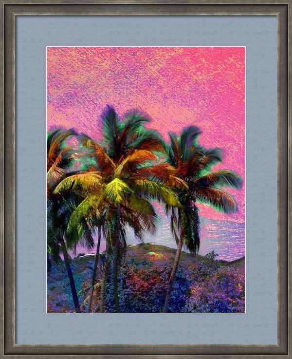 Coconut Trees | Decor | Art Print | Canvas | iPhone Galaxy Case | Lyn Voytershark | SharkCrossing