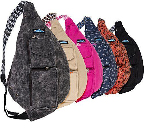 MERU Rope Bag - Crossbody Sling Bag - The Ideal EDC Sling Backpack ...