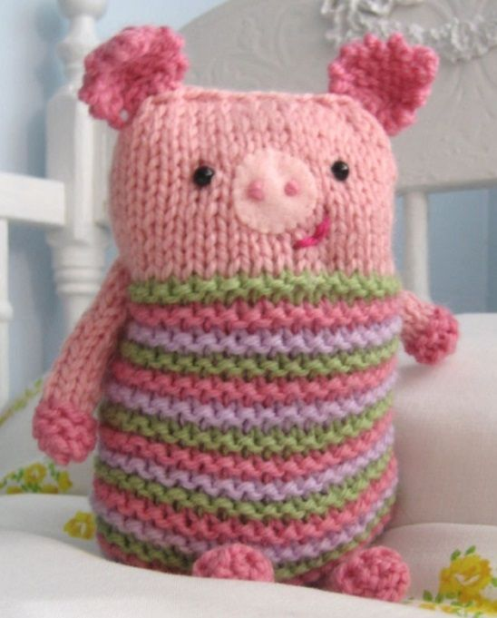 Free Knitting Pattern for a Knook Piggy