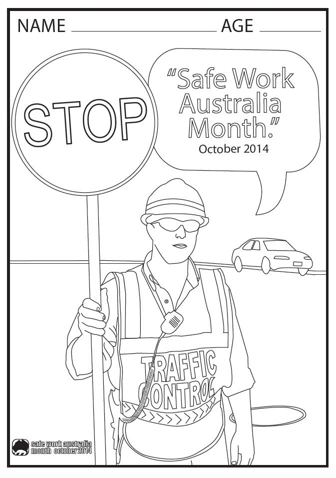 safety coloring contest pages - photo#15