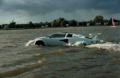 Lamborghini Countach RIdes On Water