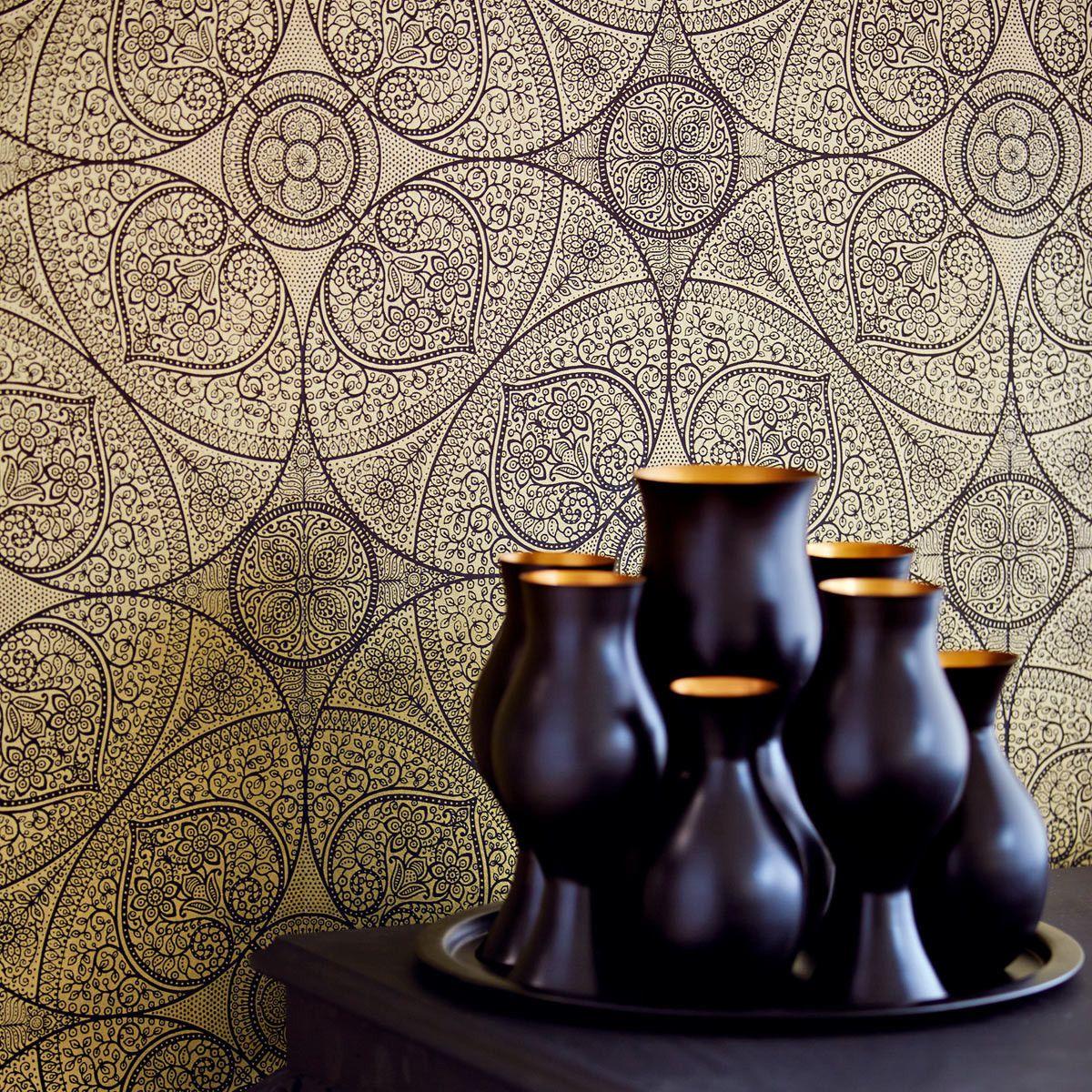 http://www.ebay.de/itm/orientalisches-Mandala-gold-Eijffinger ...