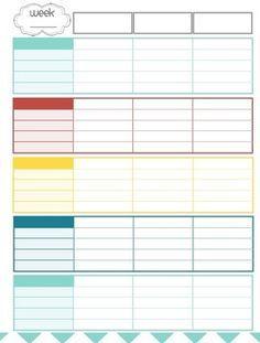 teachers weekly planner printable