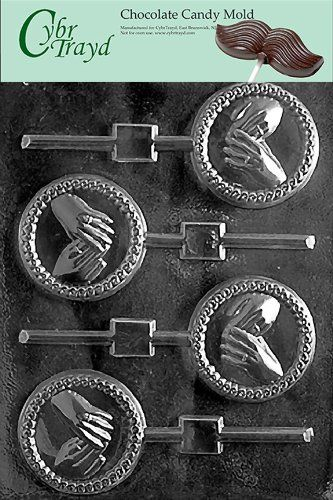 Chocolate Lollipop Mold Hands With Ring