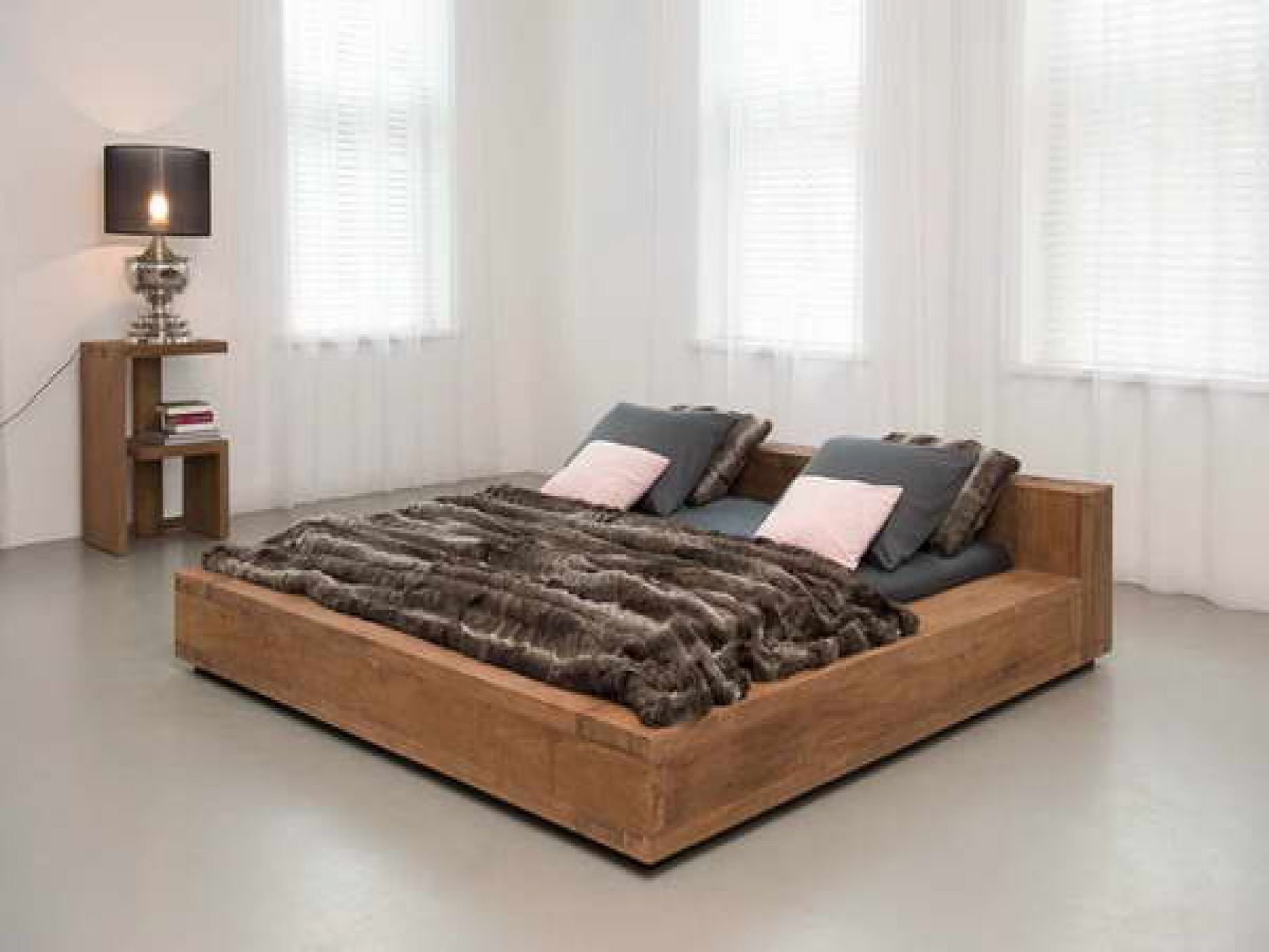 Bedroom Furniture Fearful Low Profile Platform Reclaimed Wood
