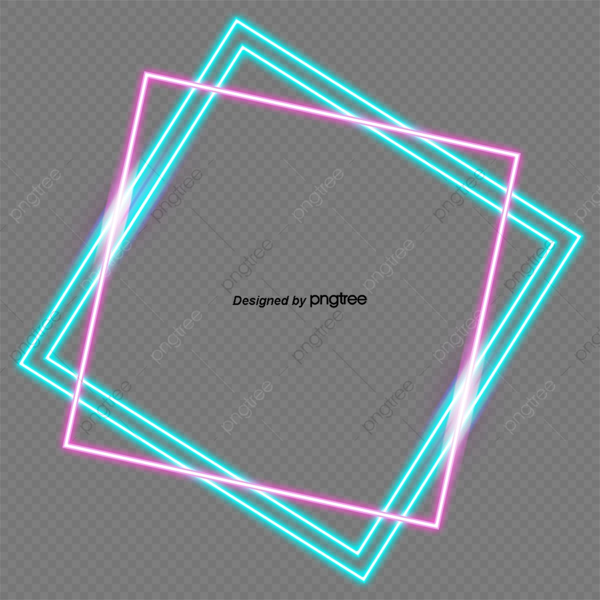 Download This Fashion Geometric Line Neon Frame Geometric Border Fashion Fluorescence Png Clipart Image With T Geometric Lines Png Images For Editing Neon