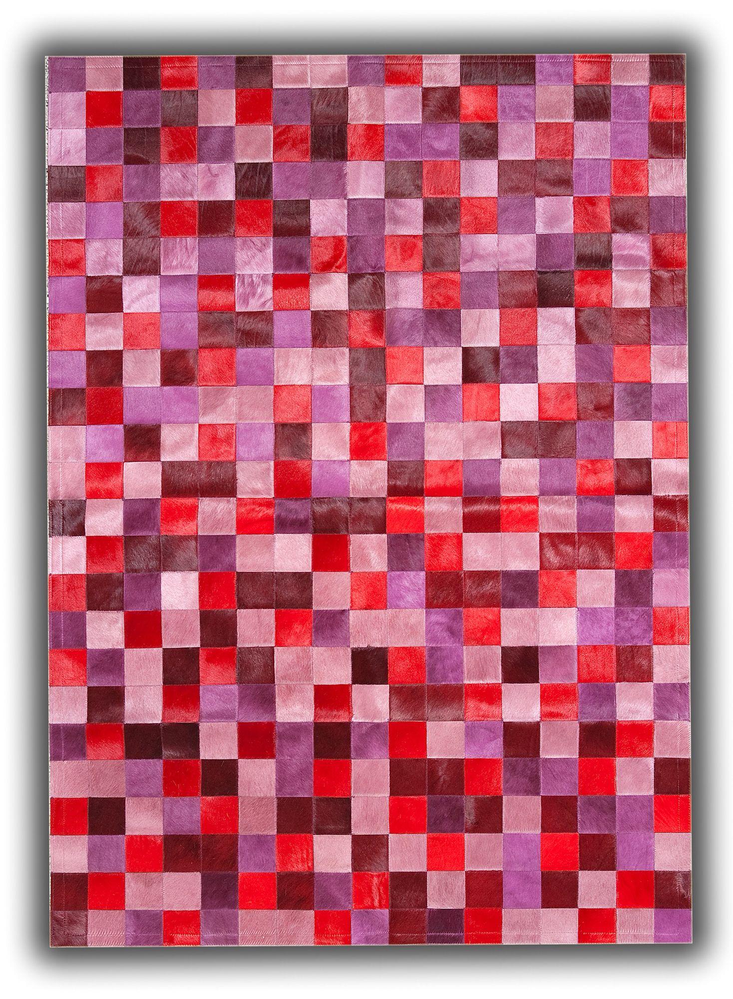 Cow skin carpet red