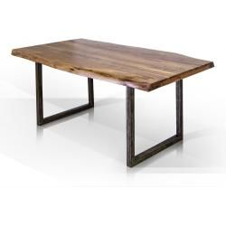 Photo of Gera dining table, material solid wood / metal, lacquered acacia – 200×90 cm furniture-one