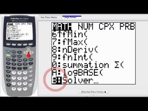 How to solve for X on a TI-84 Silver Plus Calculator - YouTube