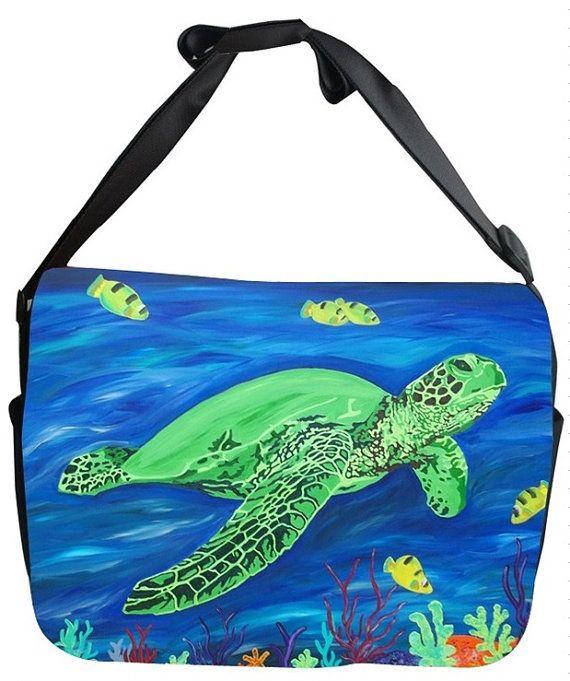 Sea Turtle Canvas Safari Style Messenger Bag  by by SalvadorKitti, $45.00