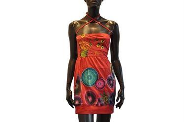 Junio Vestito Corto Vest Pinterest Desigual Red Dress V2035 qpavZpA