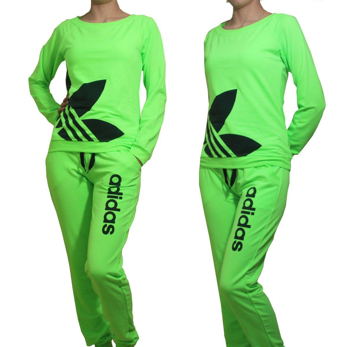 adidas womens neon sweat suit
