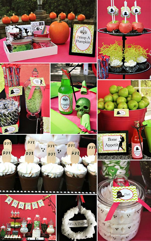 pink and green halloween baby shower ideas for girls ...