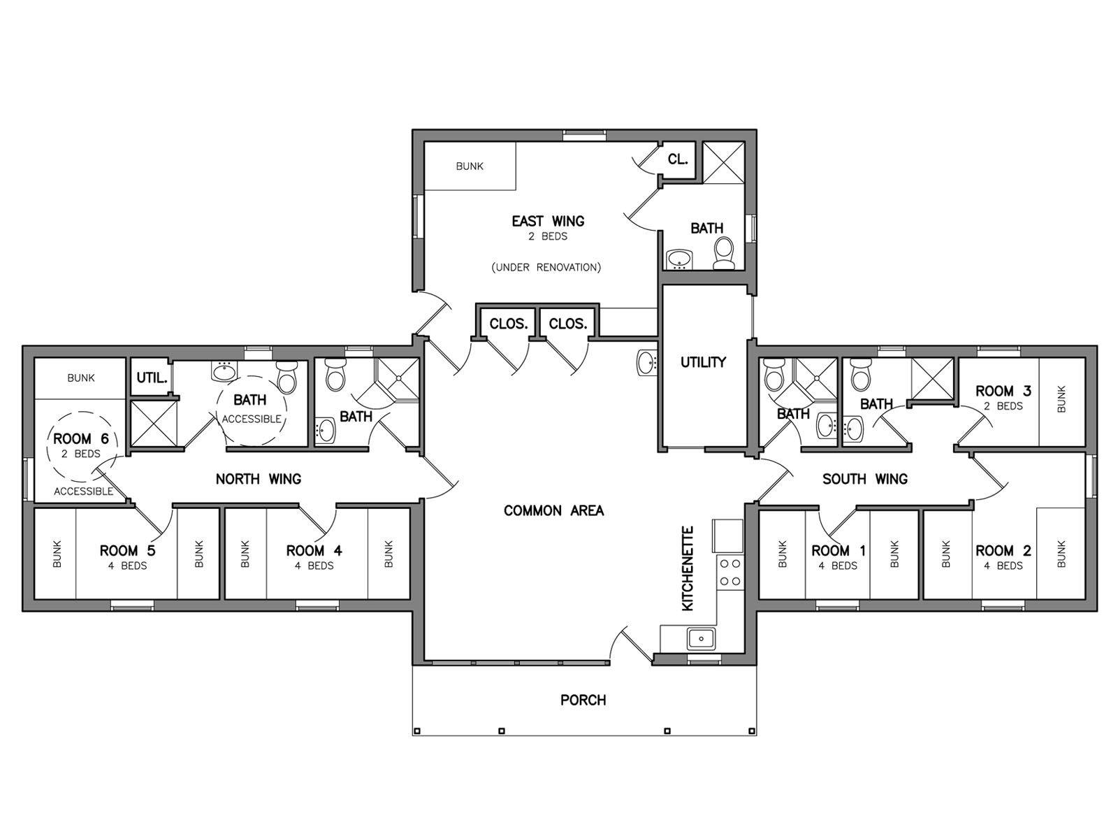 Taylor Lodge Floor Plans Guest House Plans Floor Plan Layout