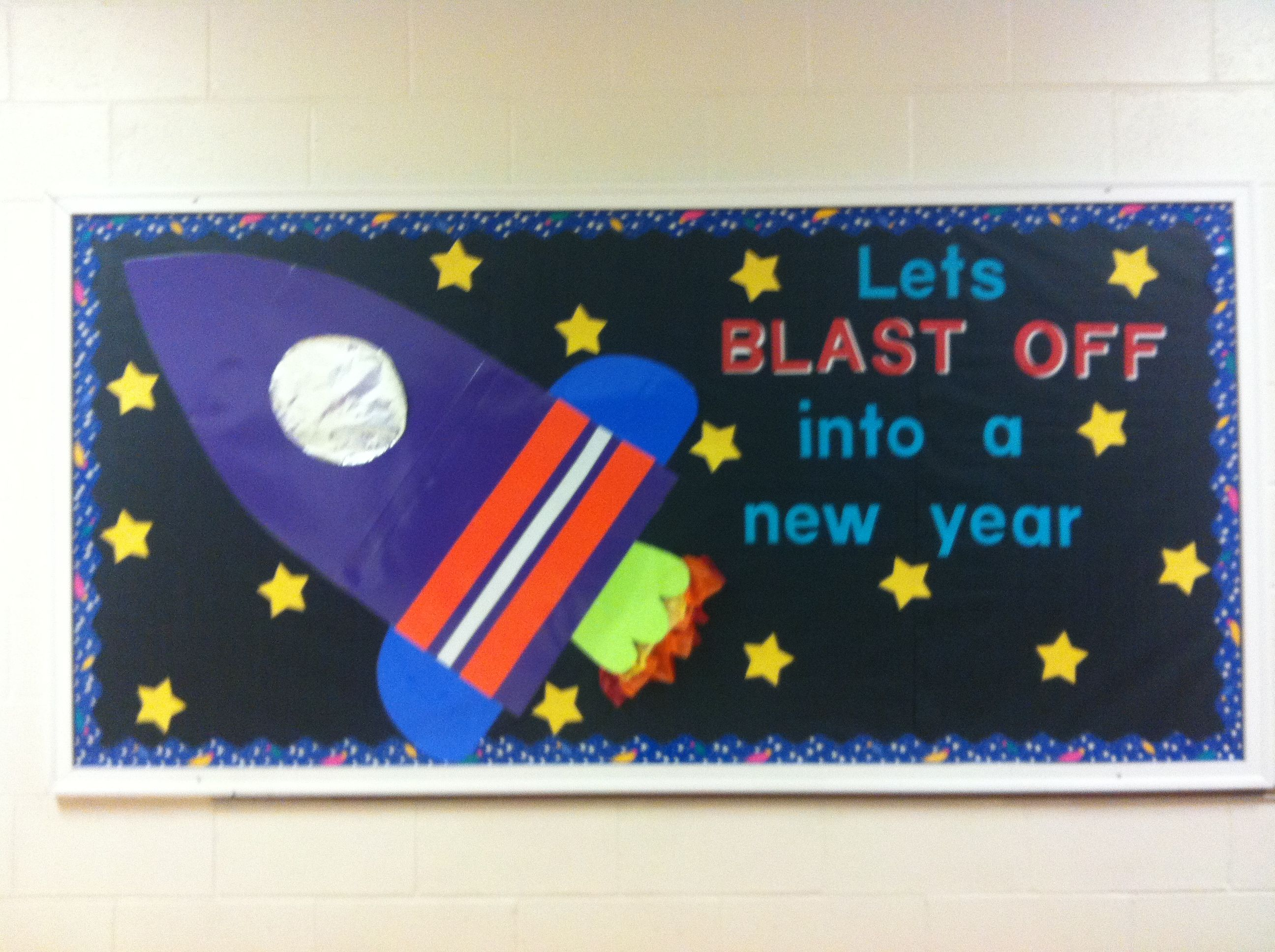 School Year Outer Space Bulletin Board Classroom