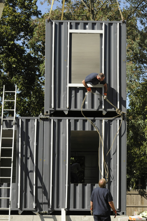Shipping container homes, small home living, ISBUs, Corten steel containers,  off the