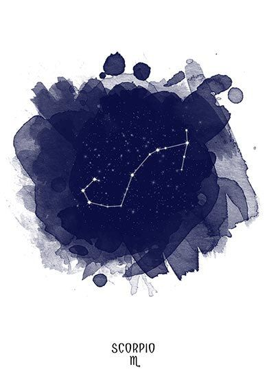 Scorpio Constellation Scorpio Zodiac Zodiac Constellation Stars Constellation Astronomy Watercolor Printable Poster D Zodiac Art Art Zodiac Signs Scorpio