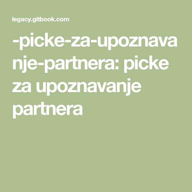upoznavanje partnera