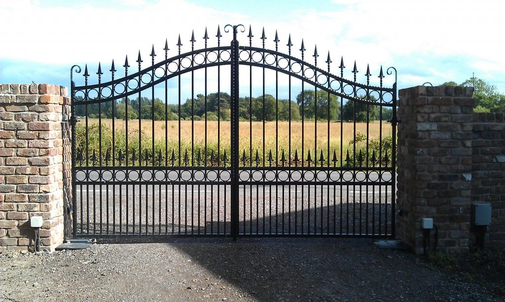 Double Wrought Iron Gates Wirral Iron Driveway Gates Birkenhead