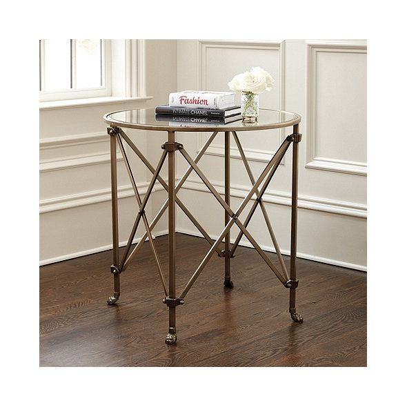 Olivia 30 Round Mirrored Side Table Home Style Table Mirrored