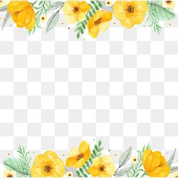 Fiori Gialli Png.Flowers Watercolor Png Transparent Clipart Image And Psd File For