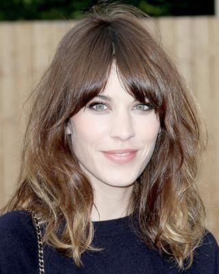ebe6cc084 Alexa Chung s chestnut brown hair turns a slightly lighter shade of toffee  in this more subtle style of  ombré.