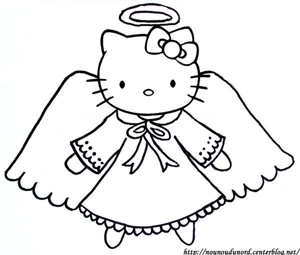 coloriage ange hello kitty printables pinterest hello kitty kitty and angels. Black Bedroom Furniture Sets. Home Design Ideas