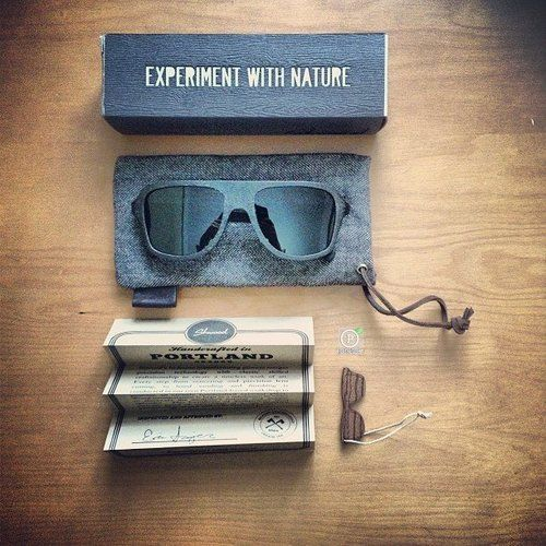 Ashland Wood sunglasses. Awesome feel for packaging/brand