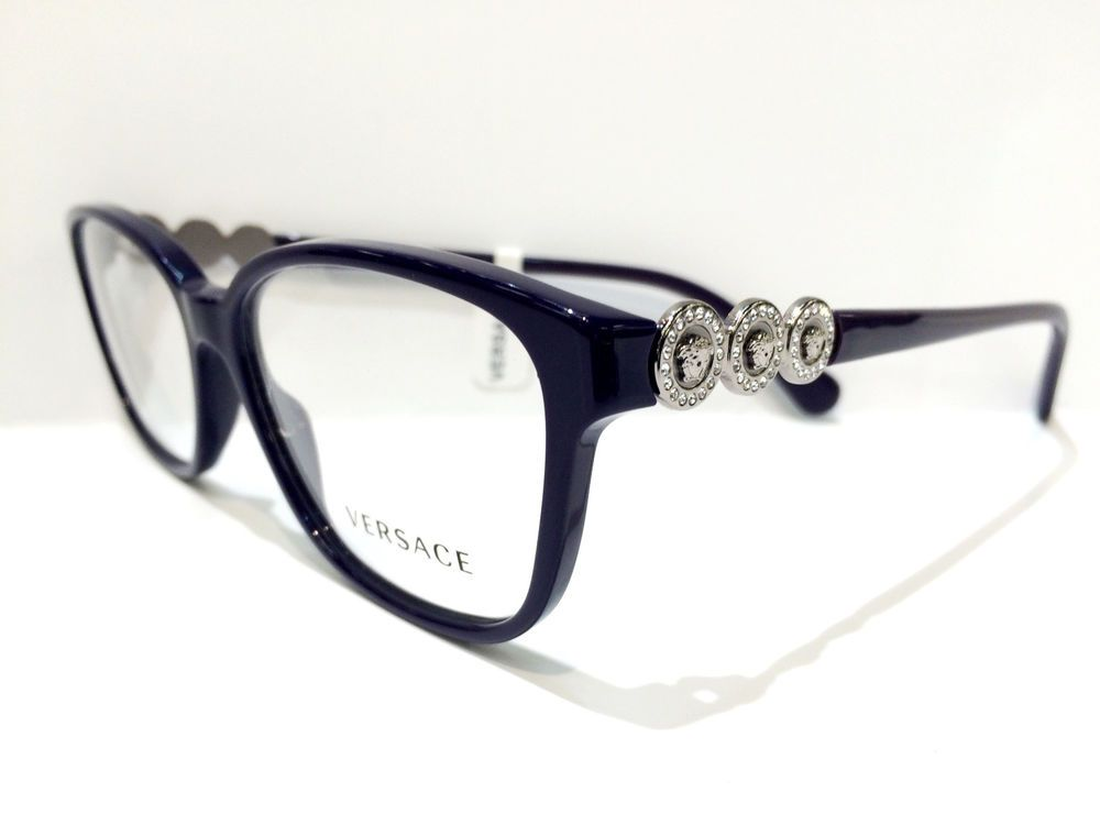 dd4675a33610f Authentic VERSACE Rx Eyeglass Frame VE MOD 3181-B 5064 NEW  55mm  Versace