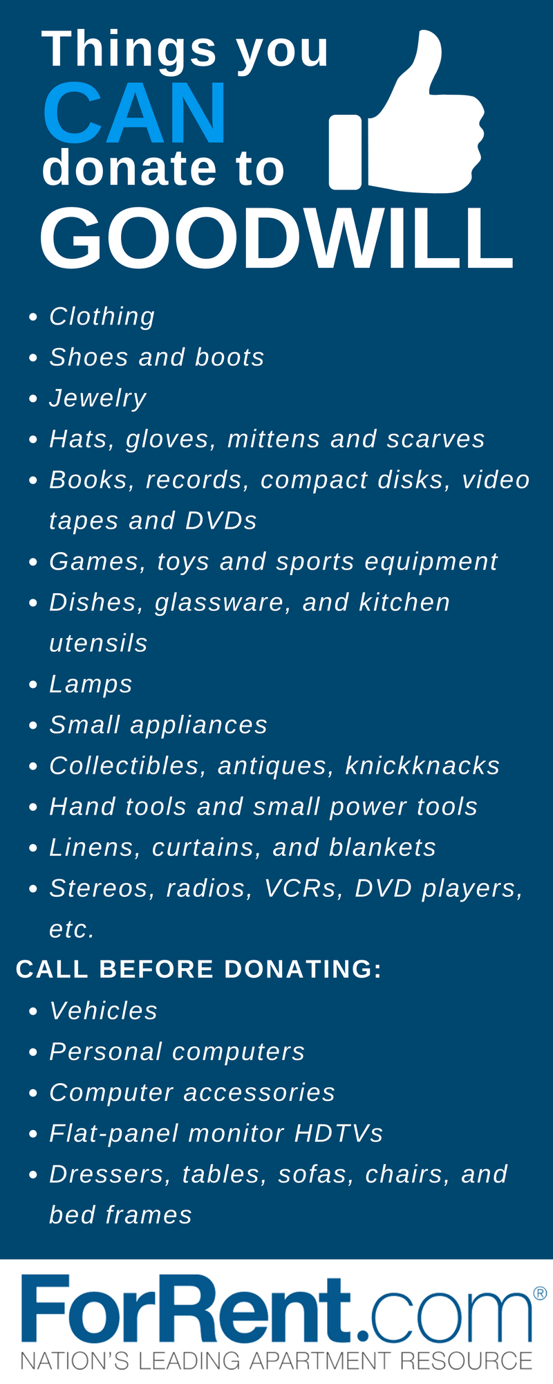things you can and cannot donate to goodwill organizations