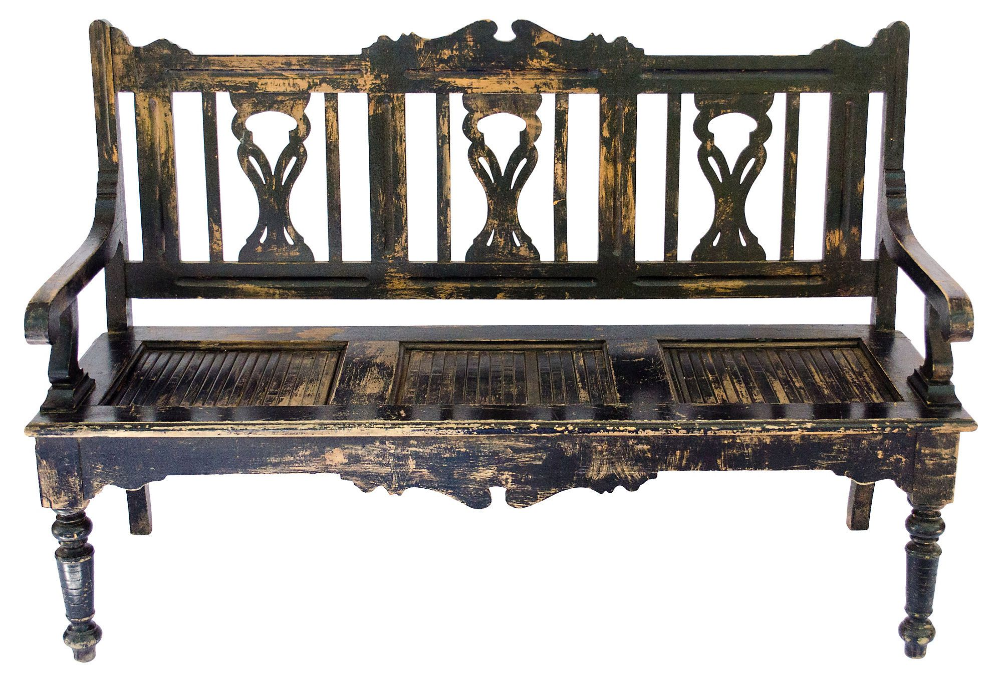 One Kings Lane - California Spanish - Spanish Colonial-Style Bench
