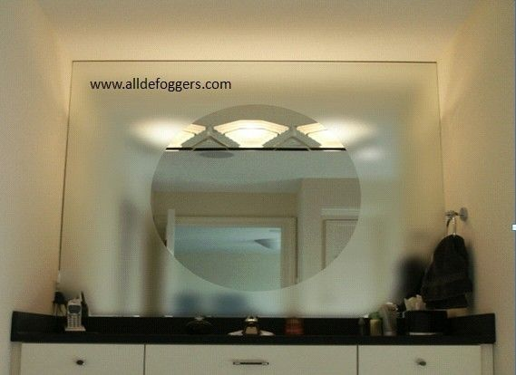 Fog Free Bathroom Mirror by alldefoggers: Heated mirror