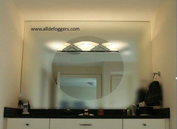 Fog Free Bathroom Mirror by alldefoggers: Heated mirror