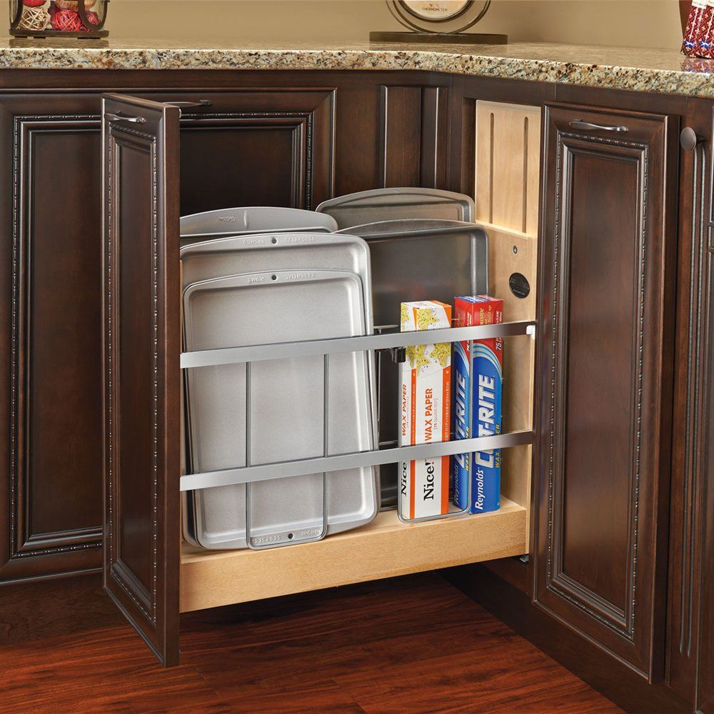Revashelf 447Bcsc Tray Dividerfoil & Wrap Organizer Softclose Classy Kitchen Cabinet Soft Close Inspiration Design