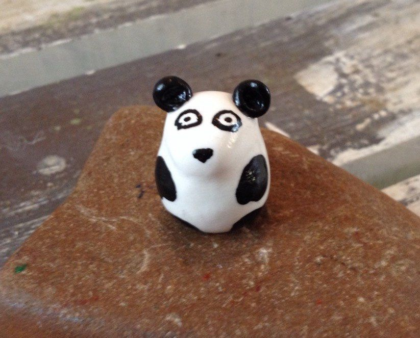 A personal favorite from my Etsy shop https://www.etsy.com/listing/295057147/miniature-polymer-clay-animals-panda