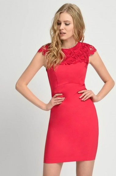 Sukienka Olowkowa Z Koronka Dresses Bodycon Dress Mini Dress