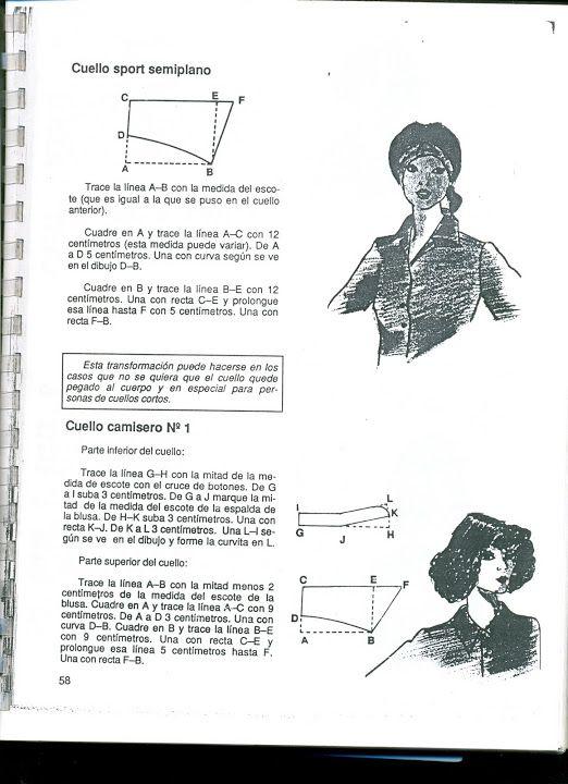 trazo cuello camisero, cuello plano - patron - Picasa Web Albums ...